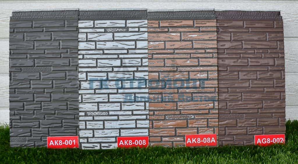 Панели кирпич мелкозернистый цвета AK8-001_AK8-008_AK8-08A_AG8-002