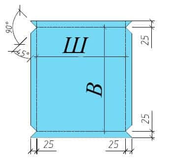 Схема раскроя кассеты АКП