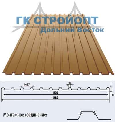 Профлист или профнастил для забора крыши С10