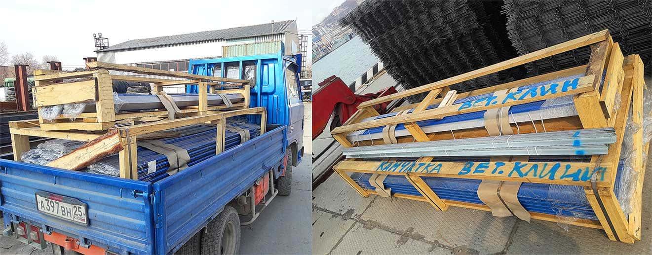Отправка сайдинга в порт на Камчатку